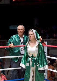 "Clint Eastwood and Hilary Swank in ""Million Dollar Baby"" (2004) Hilary Swank - Best Actress Oscar 2004"