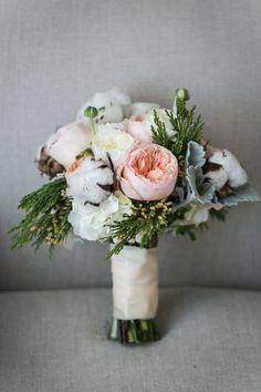 Rustic bouquet inspiration: http://www.stylemepretty.com/illinois-weddings/chicago/2014/08/08/traditional-winter-wedding/ | Photography: Ann & Kam - http://www.annkam.com/