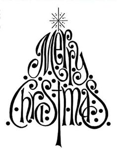 Merry Christmas cards 2016 text messages printable designs handmade homemade Xmas quotes on cards for friends family boss colleagues. Noel Christmas, Christmas And New Year, All Things Christmas, Winter Christmas, Christmas Vinyl, Christmas Nativity, Christmas Design, Christmas Tree Silhouette, Christmas Stencils