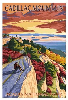 Cadillac Mountain Acadia National Park, Maine- Can't wait to go and be the first people in The USA to see the sunrise!