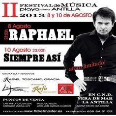 Te esperamos en el #Concierto de #Raphael. ¡¡No faltes!!