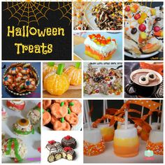 Round up of Halloween treats Halloween Dessert Halloween #recipes