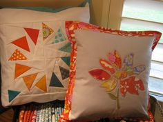 Newest pillow  by Sewmama123, via Flickr