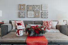 Last year's holiday decorations in our showhomes. Visa Gift Card, Holiday Decorating, Couch, Decorations, Throw Pillows, Bed, Christmas, Inspiration, Furniture
