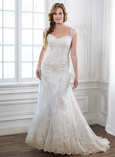 Maggie Sottero Emma With An Eye To Timeless Romance This Slim A Line Wedding Dress Features Delicate Sweetheart Neckline And Gorgeous Beaded Lace