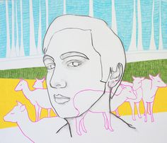 Herten, tekening door Laura Casas Valle