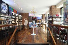 Kiehl's Retail Store and Spa 1851, New York -- With such features as operable windows, reclaimed red oak flooring, and low-VOC finishes, this space embodies the brand identity of natural, time-honored techniques while the historic building preservation honors the store's roots as an apothecary since 1851. Built to LEED Gold standards, the project involved coordination between retail, architect, and MEP teams even before design development.