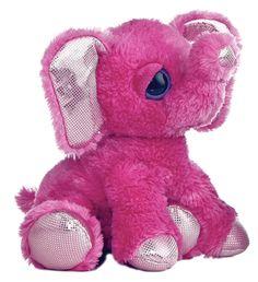 1ccef864a41 Aurora Plush Shimmer the Pink Elephant Stuffed Animal Toy Dreamy Eyes 21213