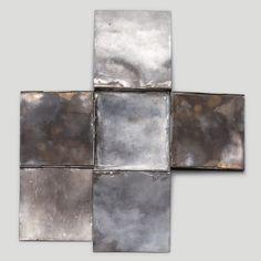 Christine Matthias, Klappobjekt 1, 2002, Silver,flexibly mounted 18.5 × 20.5 × 1 cm