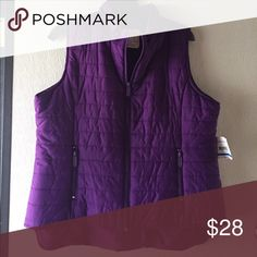 NWT vest jacket Deep purple NEW WITH TAGS. Zip front. 2 zip front pockets. Relativity Other