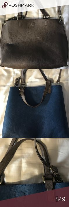 free people reversible tote- vegan leather smaller sized free people reversible bag. barely used, great condition. comes with long strap to be worn as a cross body bag Free People Bags Crossbody Bags