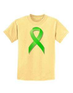 TooLoud Lyme Disease Awareness Ribbon - Lime Green Childrens T-Shirt