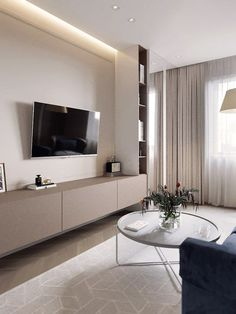Take a closer look to this room before starting your next interior design project discover, with Luxxu, the best selection of inspirations for your interior design project! Find your inspiration at lu Apartment Interior, Apartment Design, Living Room Interior, Home Living Room, Living Room Decor, Modern Bedroom Design, Home Room Design, Home Interior Design, Modern Design