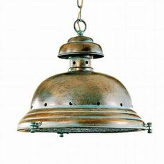 SWOON! But I can keep dreaming for $400! Lustrarte Escotilha 14.17-in W Antique Green Pendant Light with Shade
