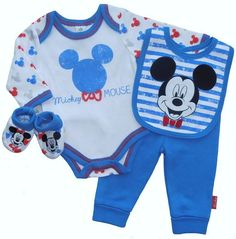 Mickey Mouse 4 Piece Baby Boy Layette Clothing Gift Set by Disney 1-3-6 months in Baby, Clothes, Shoes & Accessories, Boys' Clothing (0-24 Months) | eBay