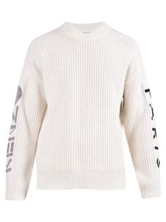 Kenzo Branded Sweater In White White Brand, White Sweaters, Kenzo, Men Sweater, Mens Fashion, Pullover, Long Sleeve, Clothes, Shopping
