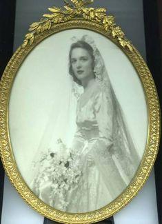 Beautiful portrait of Barbara Bush on her wedding day, January 6, 1945.