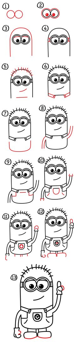 Learn how to draw a minion in a few easy steps. All you need is something to draw with and follow along with us!
