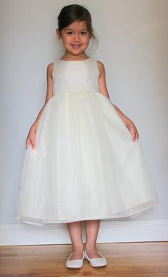 VANESSA++Beautiful+Organza+Flower+Girl+Dress+with+V+by+SasAndAsa,+$119.00
