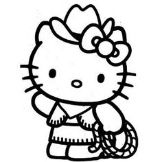 HELLO KITTY COWGIRL – Vinyl Decal Sticker 5″ HOT PINK » Pink Hello Kitty » Shop Hello Kitty — All your Hello Kitty Products Here!