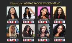 Elemo Human Hair Body Wave Lace Front Wigs With Baby Hair Pre Plucked – Elemo Hair Curly Full Lace Wig, Blonde Lace Front Wigs, Curly Lace Front Wigs, Straight Lace Front Wigs, Human Hair Lace Wigs, Wig Hairstyles, Straight Hairstyles, Short Hair Ponytail, Curly Bob Wigs