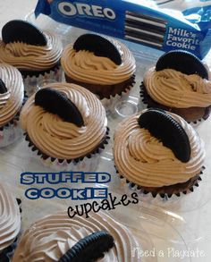 Because You Want to Make Stuffed Cookie Cupcakes - iNeed a Playdate | Northeast Ohio Mom