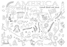 America embroidery sampler