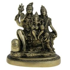 Amazon.com: Shiva Statue with Family Statues and Sculptures Made in Brass 5 X 2.75 X 5..75 Inches: Furniture & Decor