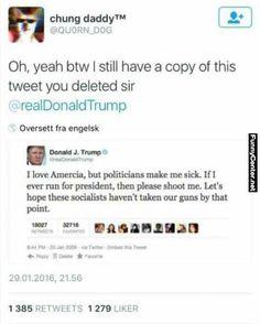 Donald Trump Deleted Tweet