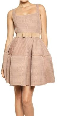 Lanvin Techno Net Baby Doll Dress