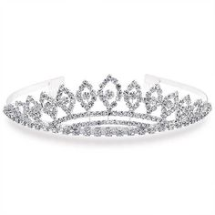Bling Jewelry Prom Queen Tiara ($20) ❤ liked on Polyvore featuring jewelry, accessories, tiaras, hair stuff, decorative-hair-combs, rhinestone jewelry, bride jewelry, rhinestone prom jewelry, bridal jewellery and homecoming jewelry