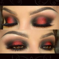Hi gorgeous Last night I recorded the video tutorial of this dramatic eye make up ....Vibrant RED look have being requested so much on my youtube channel and Facebook ... so finally this video will be UP on my youtube channel tomorrow , what do u think? Brows done with Dip Brow Pomade in MEDIUM BROWN by @anastasiabeverlyhills I used from @motivescosmetics : -Eye shadow base -Pressed eye shadow in CARAMEL as transition color below brow bone and blended below lower lashes -Pressed eye shado...