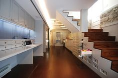 stair storage Jenifer St. Residence - contemporary - basement - dc metro - by E/L STUDIO