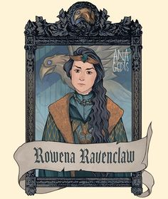 Fanart Harry Potter, Harry Potter Style, Harry Potter Houses, Harry Potter Fandom, Harry Potter World, Hogwarts Gründer, Hogwarts Founders, Ravenclaw, Harry Potter Magie