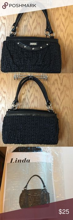 Authentic Miche Classic Shell (Premium) Linda- Black textured faux leather with full sides. Miche Bags Totes