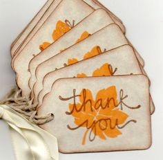 Fall Leaf Gift Tags Favor Tags Thank You Tags Wedding Tags Shower Tags Hang Tags Labels Vintage Autumn Thanksgiving