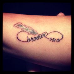 My tattoo in memory of my brother who was killed in the El Reno, OK tornado May 31, 2013.