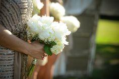 White Hydrangea, White Peonies, Million Star Babies Breath ~~  Photography: MilesWittBoyer.com