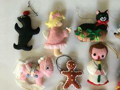 24 Vintage Handmade Felt Christmas Ornaments #Christmas