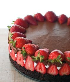 Chocolate Mousse Berry Cake: I made this cake using different recipes from scratch. Such a beautiful cake.