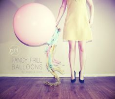 DIY Fancy Frill Balloons. Love This. Easy Way To Make A Dance/Party A Little Bit More Fun!