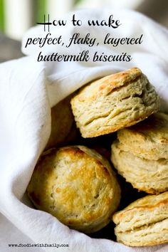 How to make Perfect, Flaky, Layered, Buttermilk Biscuits with www.foodiewithfamily.com
