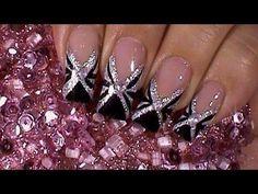 black-tie-event-nail-art-design-tutorial.jpg black and silver nail art manicure