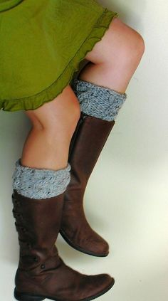 Gray leg warmers for my brown boots.