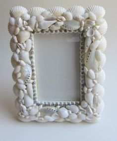 Beach Decor   Shell Picture Frame by CereusArt on Etsy, $24.00