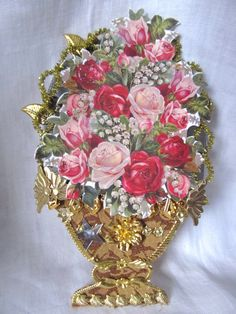 Victorian Style Christmas Craft Supplies by AuntSuesVintage, $4.99
