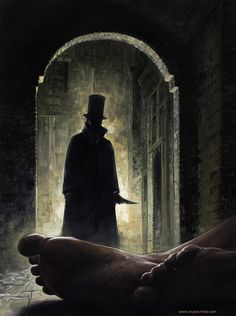 Jack the Ripper Museum, situated in a historic Victorian house in the heart of Whitechapel, tells the full story of the Jack the Ripper murders. Step back in time to the London of the. Arte Horror, Gothic Horror, Gothic Art, Horror Art, Dark Fantasy, Fantasy Art, Jack Ripper, Victorian London, Wow Art