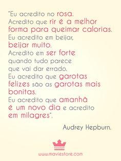 Audrey Hepburn foi uma mulher incrível!
