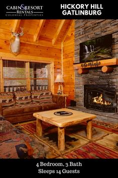 You'll have so much fun staying at Hickory Hill! This awesome Gatlinburg TN cabin has a pool table, hot tub, fireplace, fire pit, large yard and more!