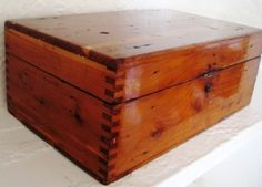 Vintage Dovetailed Wooden Box